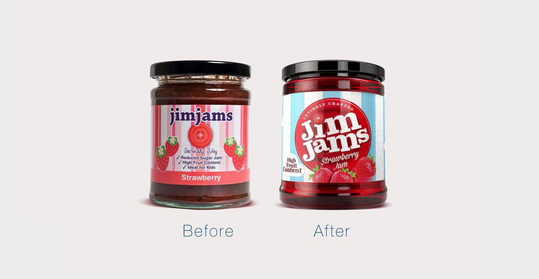 Before After Jimjams Packaging Design Food Packaging Design Creative Packaging Design