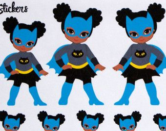 African American Baby Girl Planner Stickers for by hellostickers