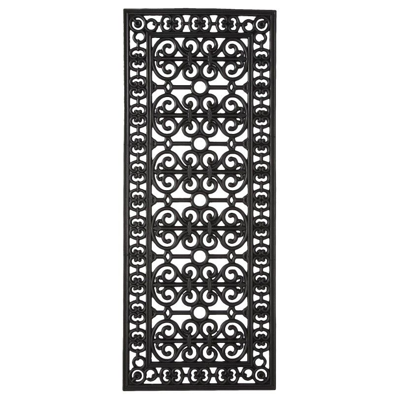 Perfect Smith U0026 Hawken® Decorative Black Rubber Door Mat