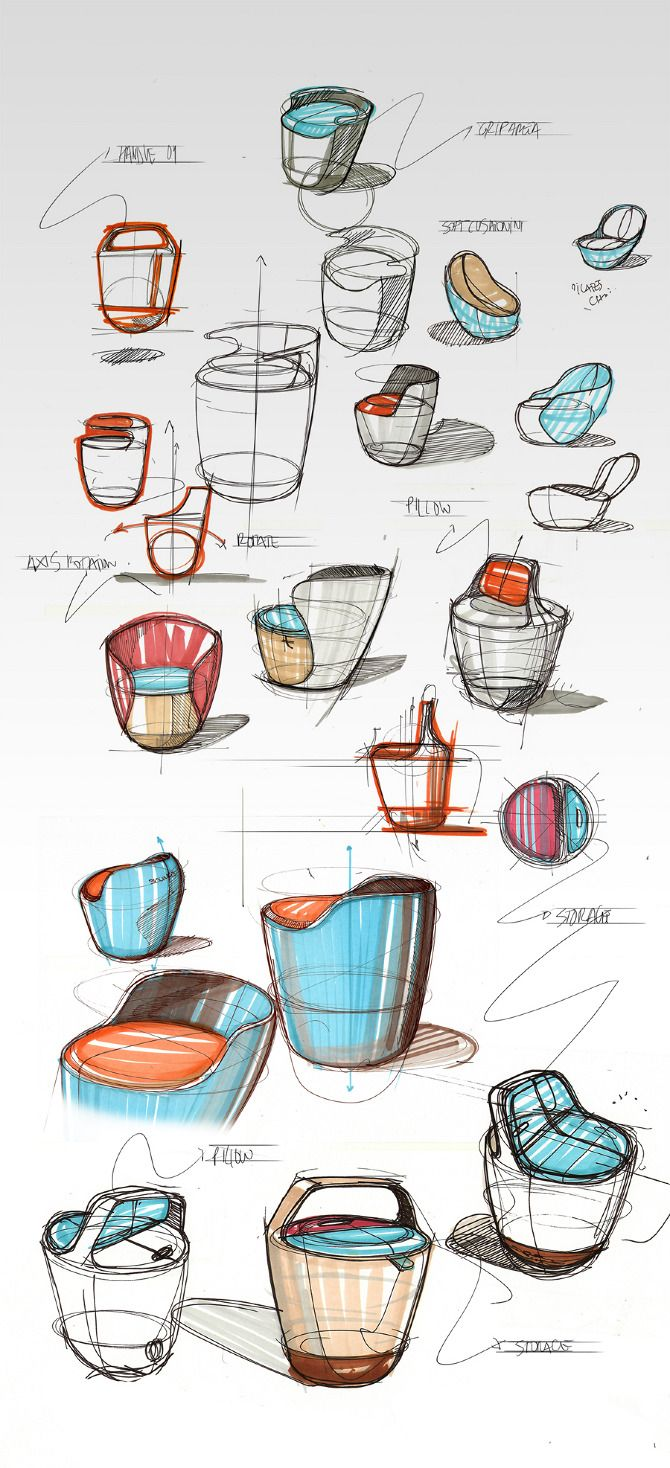 Bounce Chair Sketches By Pedro Gomes Sketching