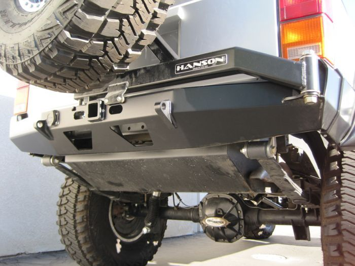 Hanson Xj Rear Bumper Tire Carrier Combo Jeep Cherokee Xj