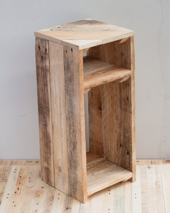 Rustic Bedside Table Wooden Night Stand By PalletablesUK On Etsy