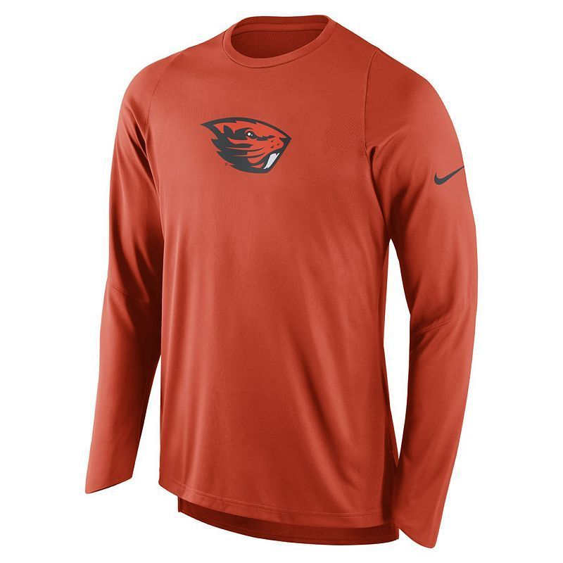 Men's Nike Oregon State Beavers Elite Shooter Long-Sleeve Tee, Size: XXL, Orange