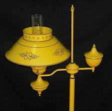 Vintage Retro Mustard Yellow Gold Metal Electric Floor Lamp Floor Lamp Retro Vintage Vintage