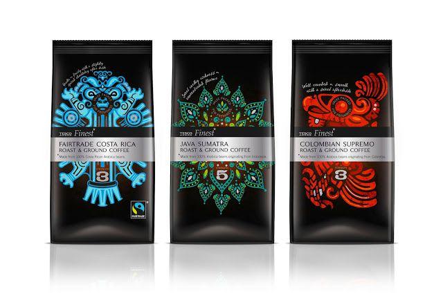 Tesco Finest Roast Ground Coffee Bags Packaging Coffee