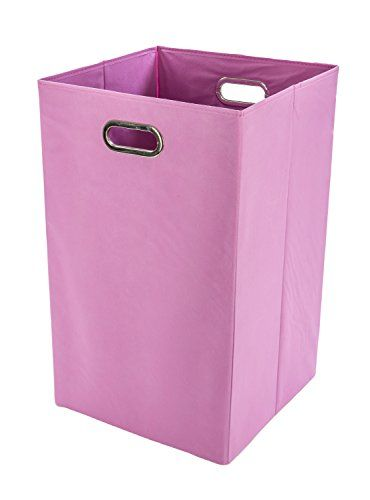 Pink Plastic Laundry Basket Unique Modern Littles Folding Laundry Basket With Handles  Highstrength Inspiration