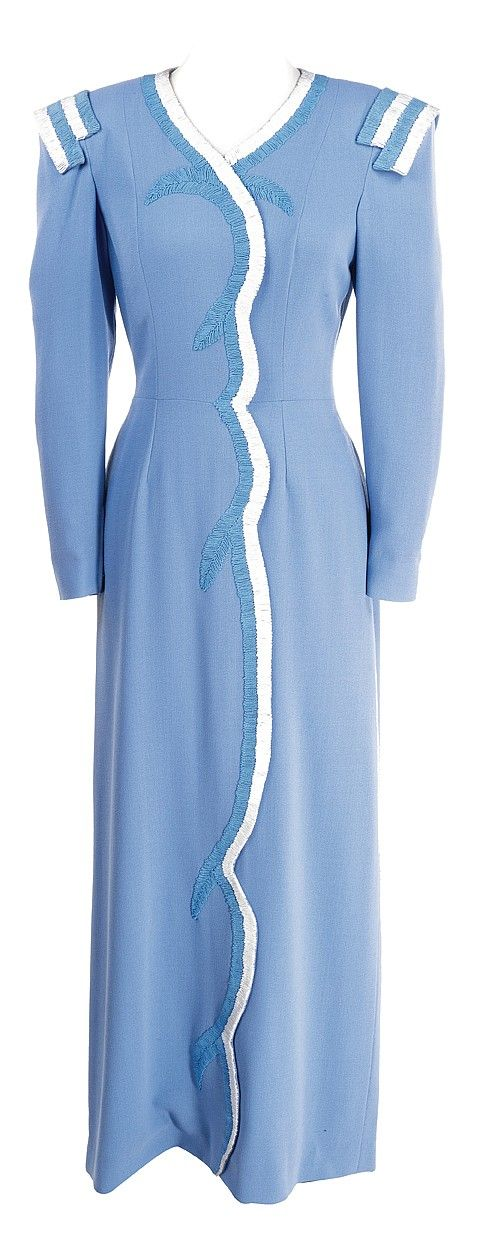 Peaches blue dress