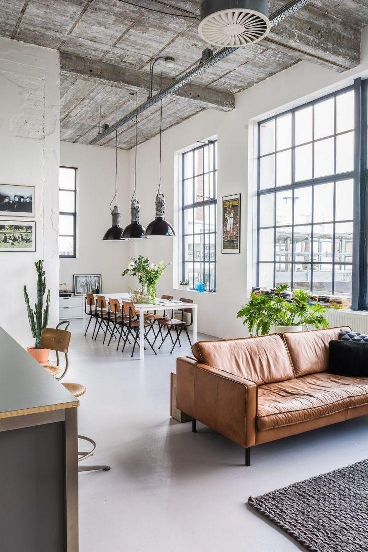 Loft industriel à Eindhoven | Pinterest | Huge windows, Industrial ...