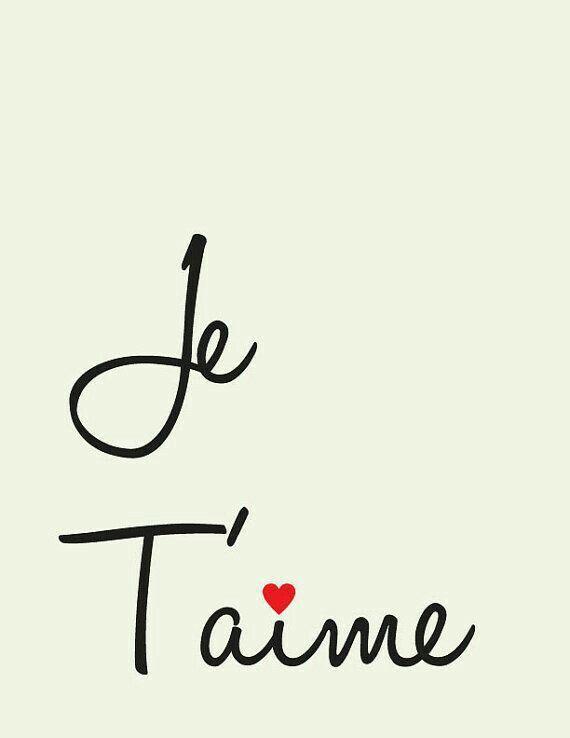 Je t aime images pinterest frases frases frances y amor je t aime malvernweather Images
