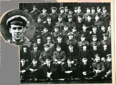 All Men Accounted For This photo taken in 1919 of the R.A.F. Airmen had an extra man present that day. The face seen behind the man in the close up was easily identified by all the airmen as their friend, Freddy Jackson, a fellow airman who was killed two days earlier in an accident. Maybe he wanted to stay close to his buddies? Or was he sending a message from the other side? What do you think?