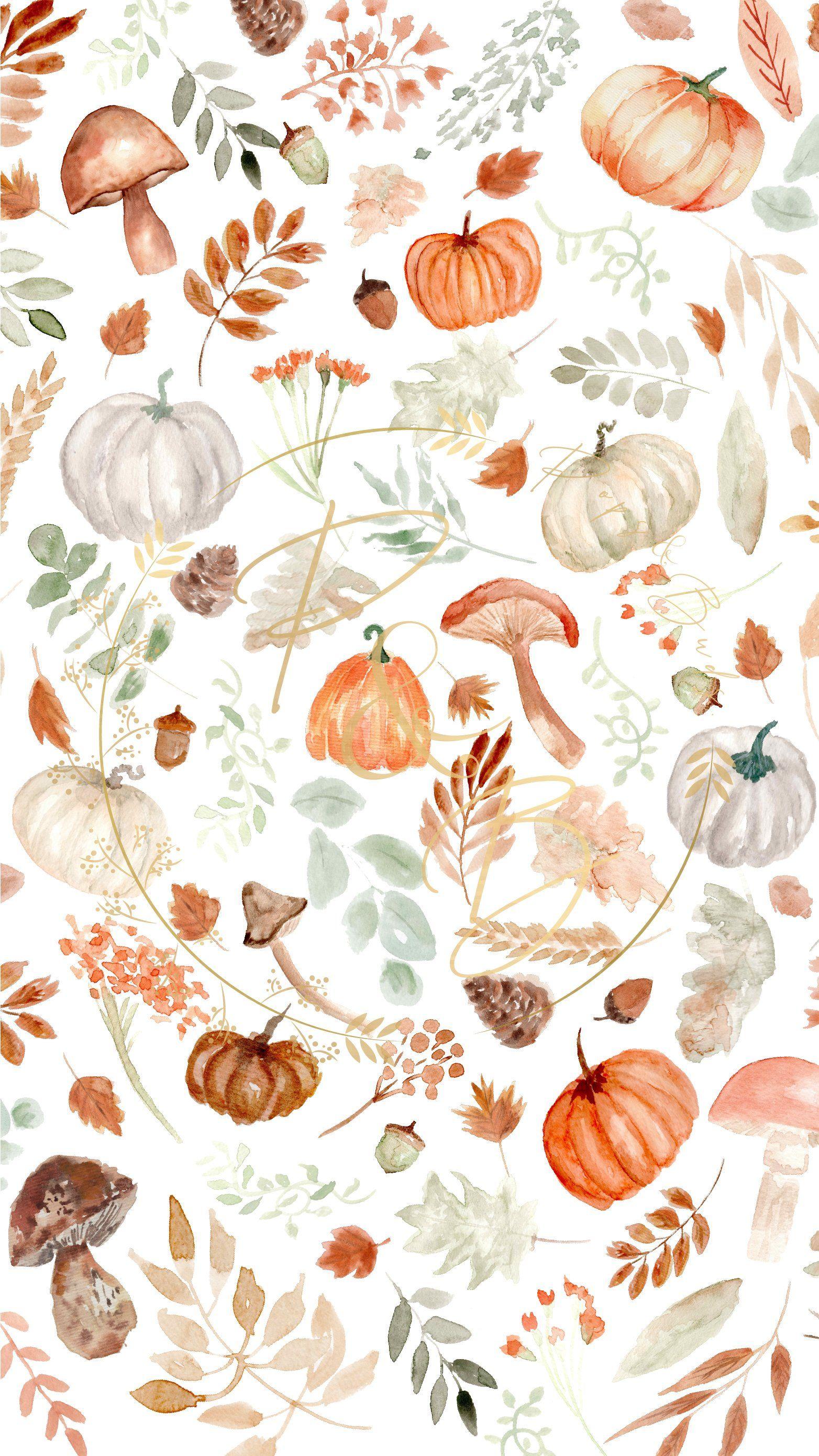 Pumpkin Patch Mobile Wallpaper Background | POPSANDBUDS