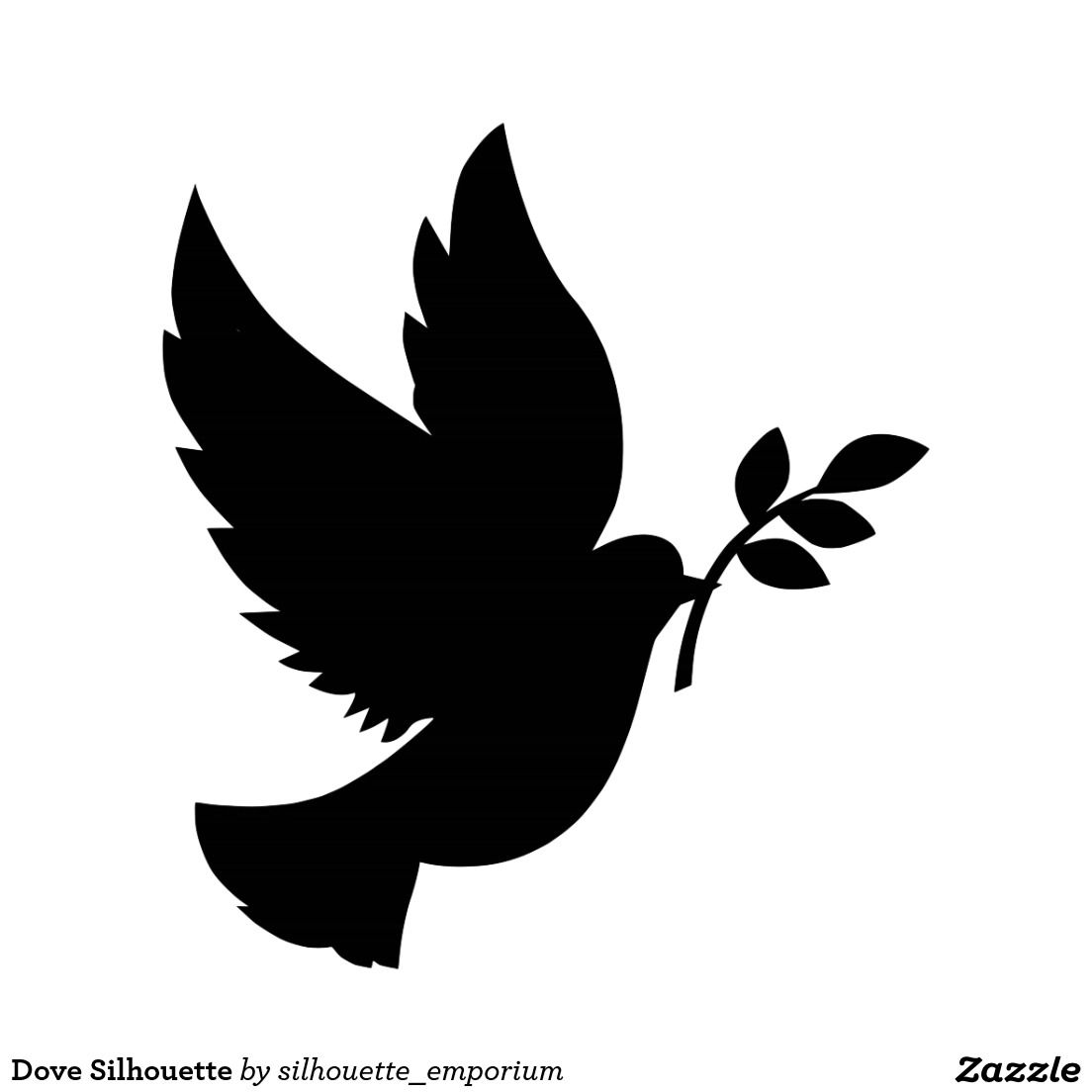 christmas dove silhouette - photo #16