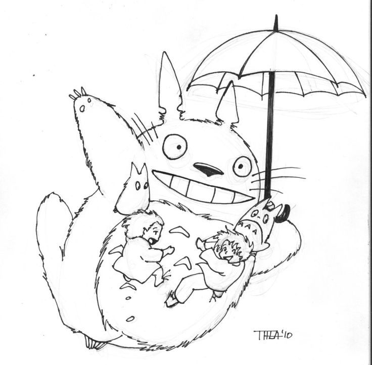 totoro colouring page ghibli joy - Neighbor Totoro Coloring Pages
