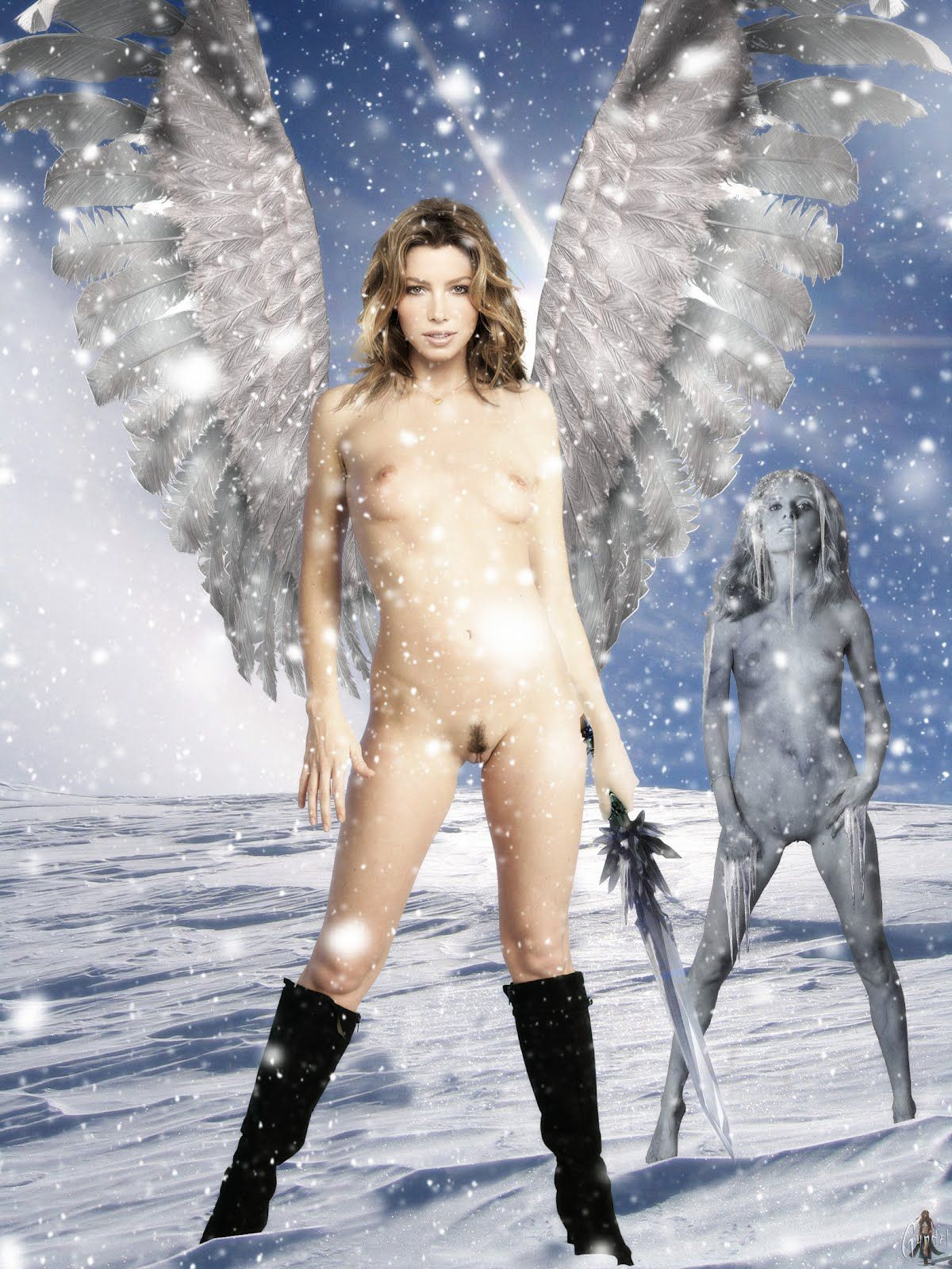 Nude angels and demons female — photo 11