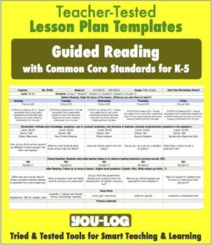 1e designing coherent instruction free k 5 guided for Lesson plan template using common core standards