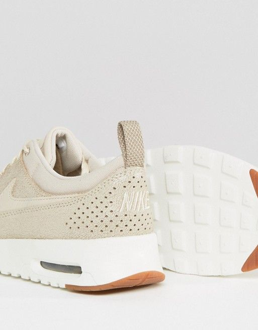 Nike Air Max Thea Basket Weave Trainers In Oatmeal at asos.com