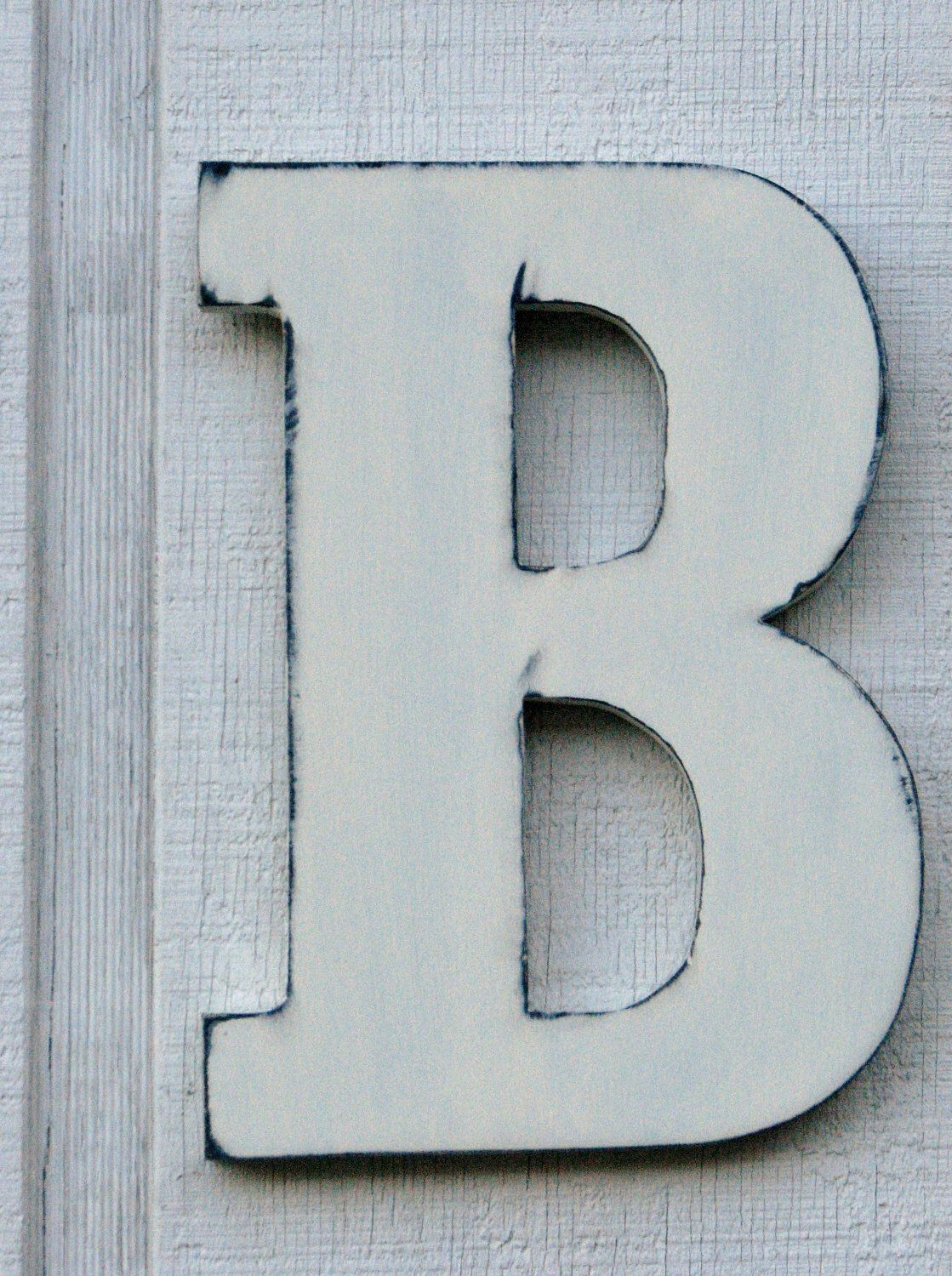 Guest Book Wooden Letters Rustic Letter B Home Decor Distressed Painted Vintage White 12 Tall Wood Name Custom Made By Borlovanwoodworks On Etsy
