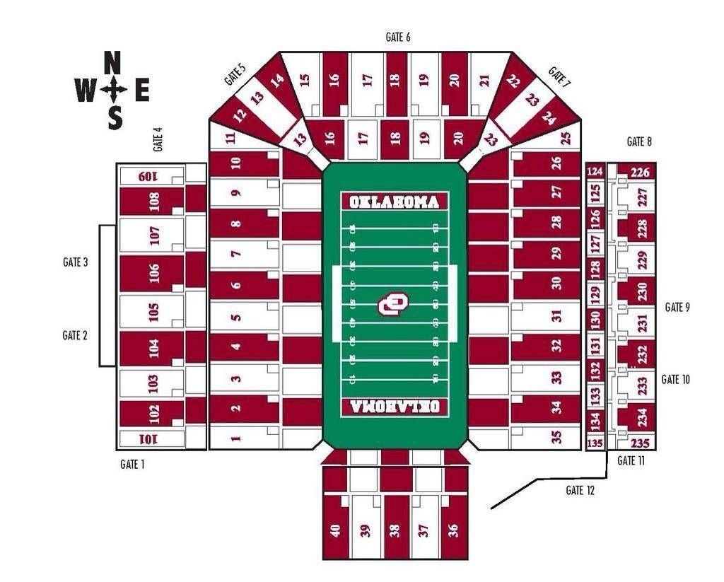 The Elegant Ou Football Stadium Seating Chart