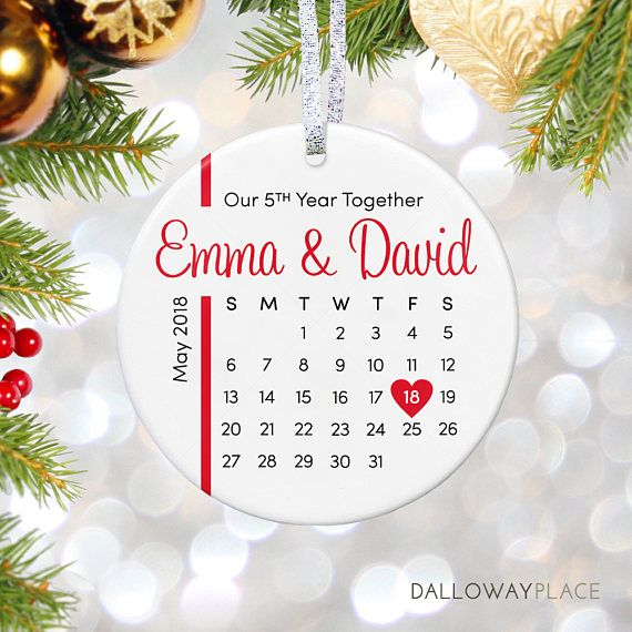 personalized ornament for anniversary gifts first anniversary ornament christmas gift for wife gif