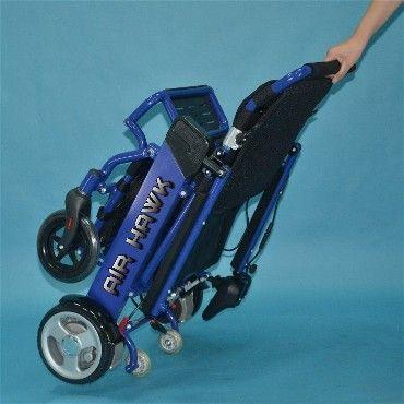 The Air Hawk Folding Portable Electric Power Wheelchair