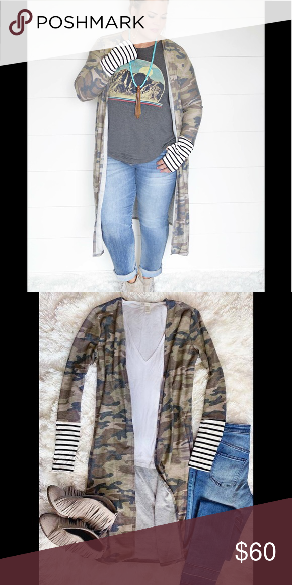 New Boutique Plus Size Camo Duster Cardigan Amazing Cute Is This