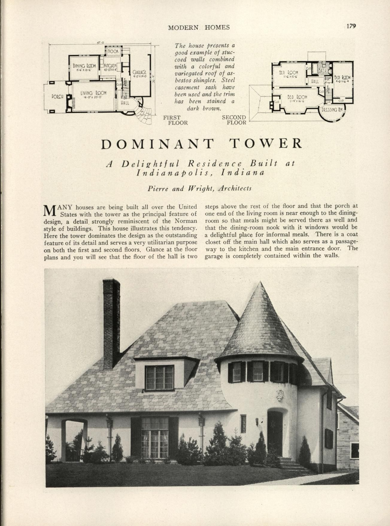 Modern Homes Their Design And Construction Vintage House Plans House Plans With Pictures Modern House