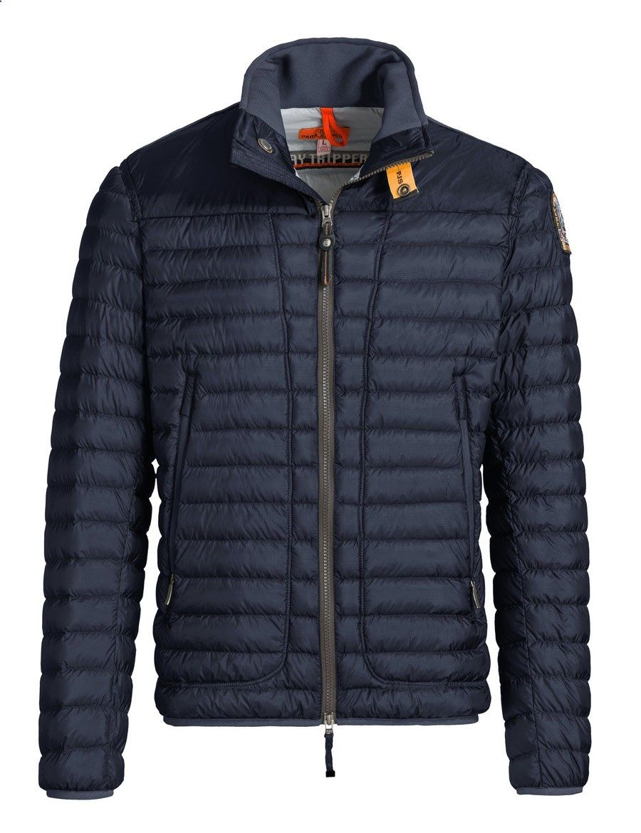 Parajumpers Arthur majolica blue down jacket Transparent and internally coated nylon ripstop jacket with a light