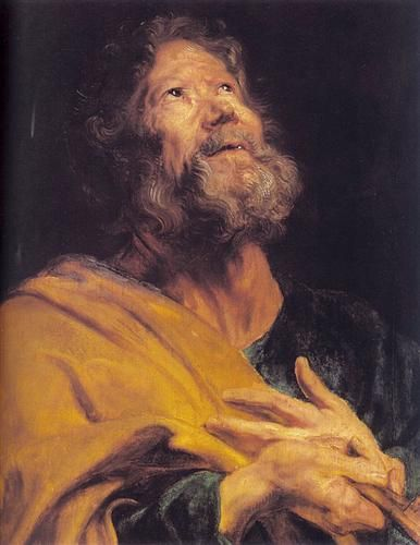 The Penitent Apostle Peter - Anthony van Dyck 1618