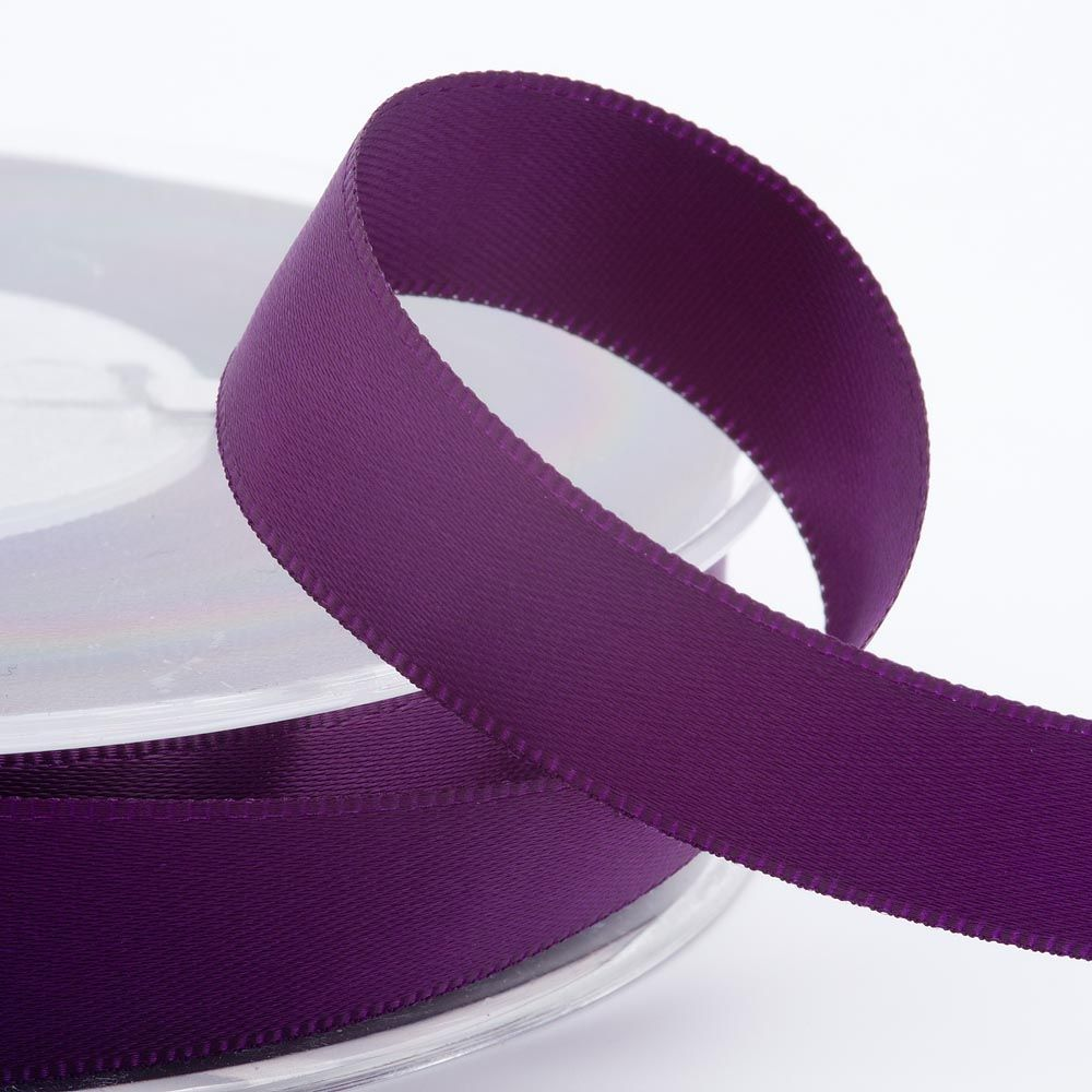 Amethyst Satin Ribbon - available in 3mm, 6mm, 10mm and 16mm widths for a wide variety of uses.