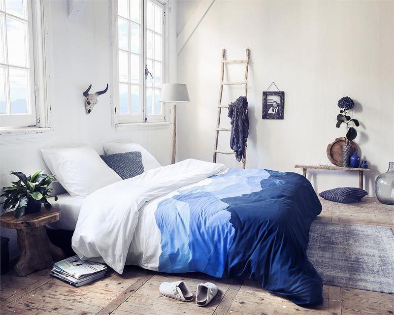 Prachtig blauw in de slaapkamer.   * SLAAPKAMER INSPIRATIE ...