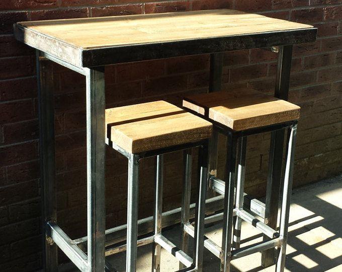 Stupendous Bespoke Modern Industrial Steel Breakfast Bar Stools Lamtechconsult Wood Chair Design Ideas Lamtechconsultcom