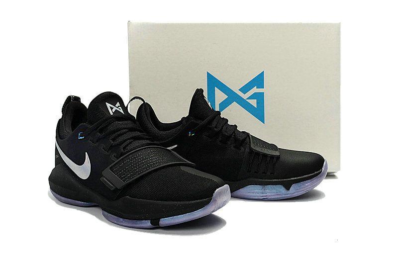 Latest Young Big Boys Nike PG 1 Paul George Black Silver  a307fd9efa