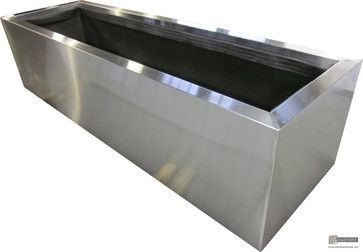 Stainless Steel Planters Modern Indoor Pots And Planters Boston By Riverside Sheet Metal Contracting Planter Pots Indoor Steel Planters Planter Pots