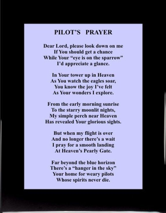 Pilots Prayer 1531 Pilot Pilot Gifts Pilot Decor Pilot Plaques