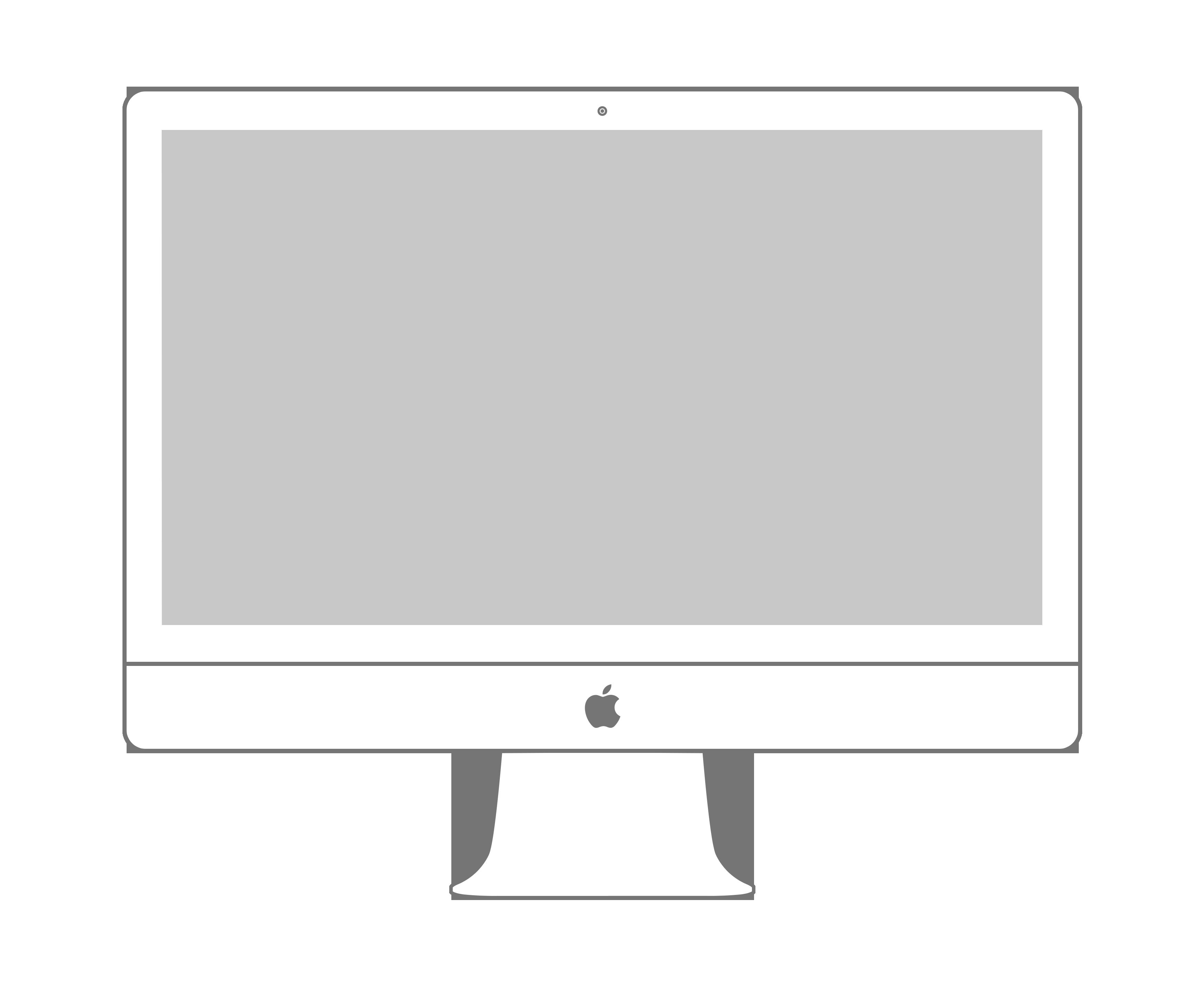imac template sketched - Google Search | web & ui design | Pinterest