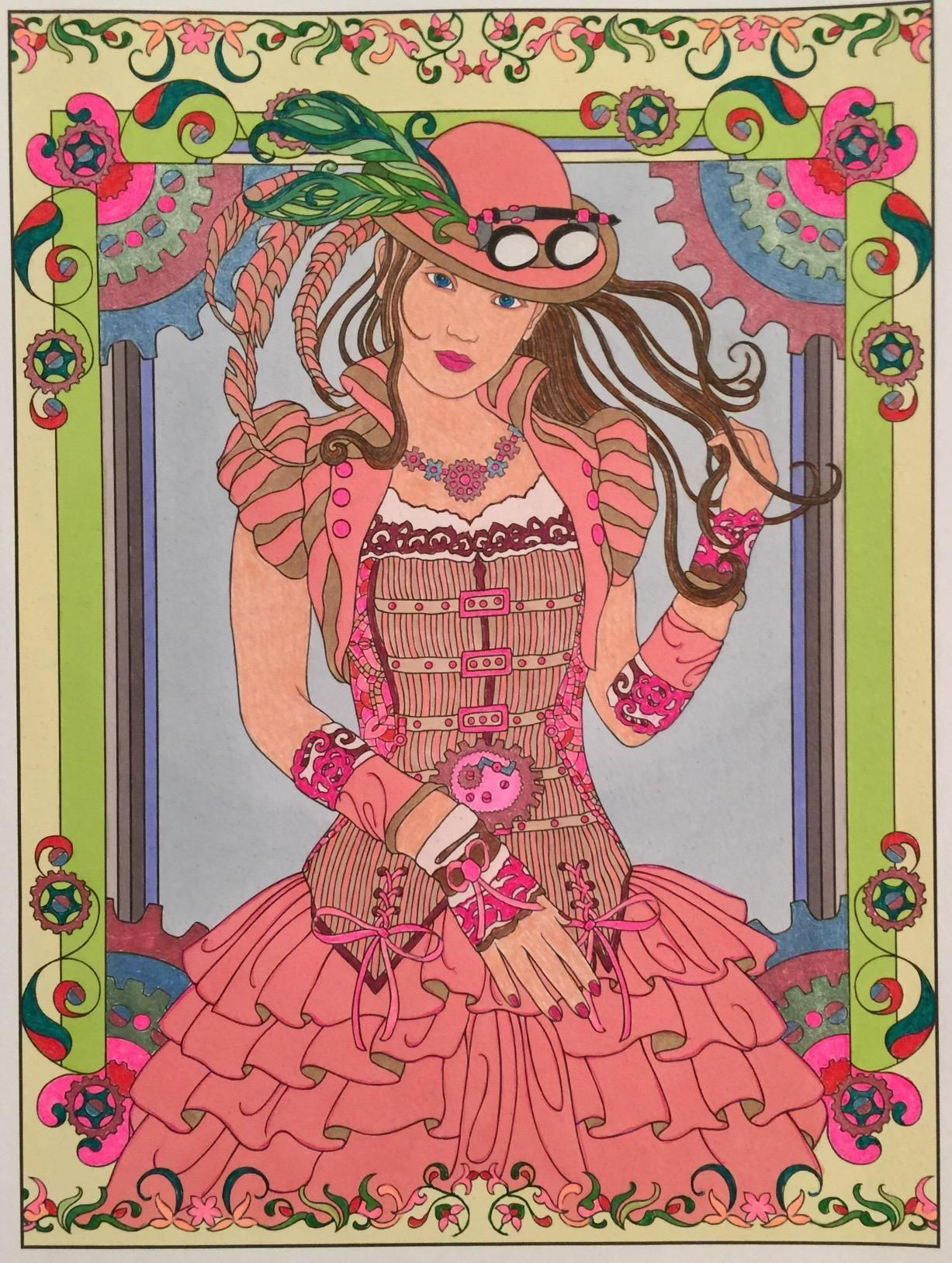 creative haven steampunk fashions coloring book creative haven