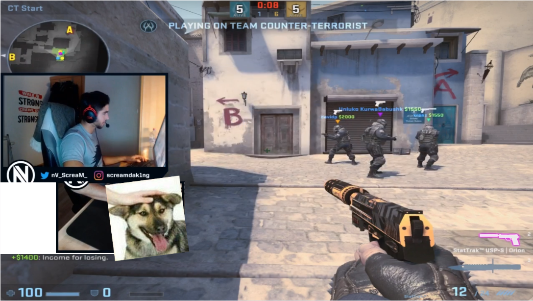 Yet another suggestion for Scream's stream hand cam  #games
