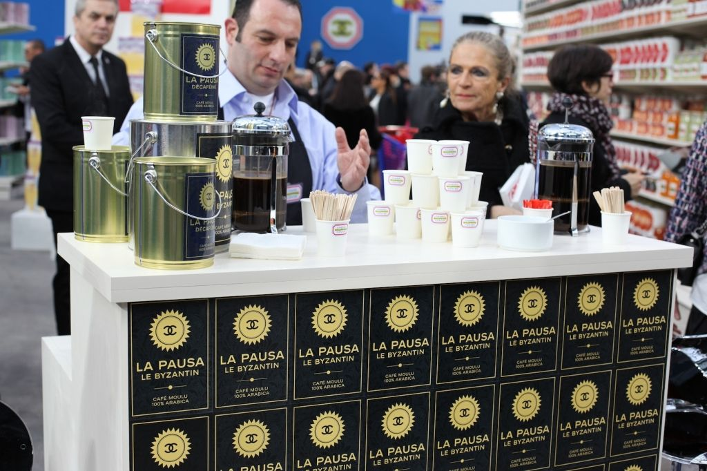 Chanel Supermarket / Chanel Shopping Center / Supermarche. Paris Fashion Week 2014. Grand Palais. Coffee