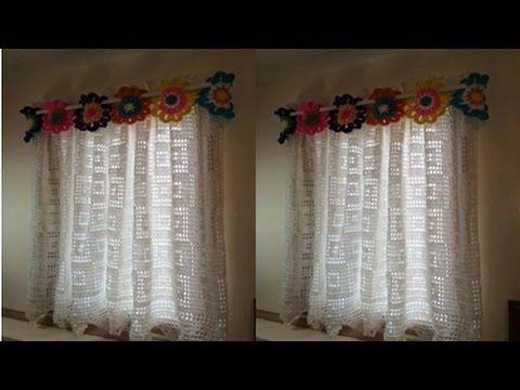 CORTINA Y PERCIANAS TEJIDAS A CROCHET PARA VENTANAS cortinas - cortinas para ventanas