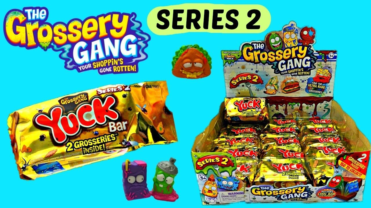 Grossery Gang Series 2 New Yuck Chocolate Bar Surprise