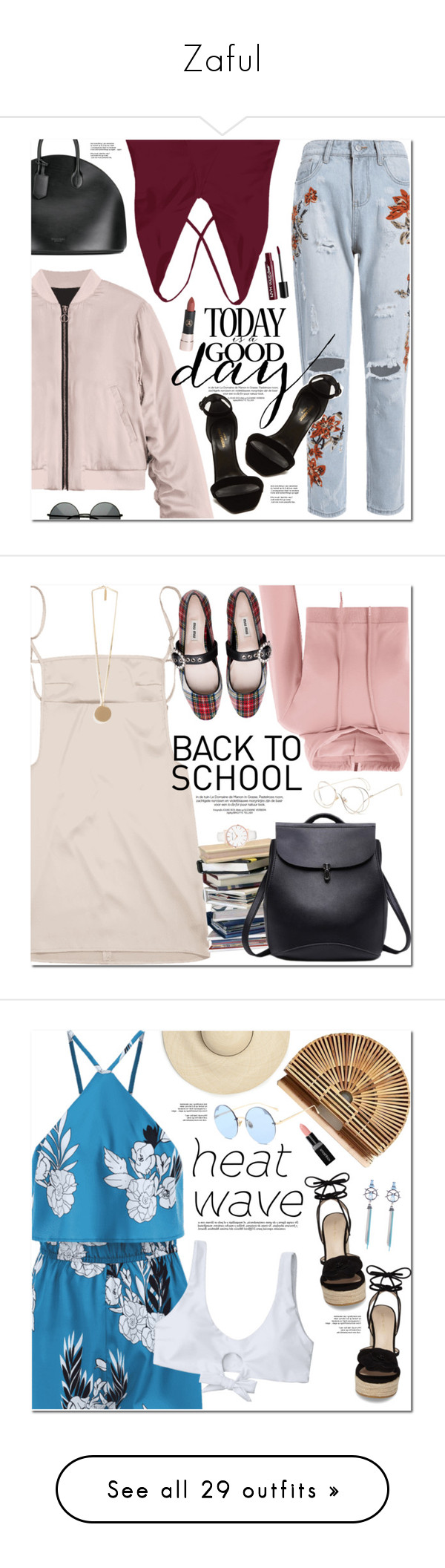 """""""Zaful"""" by oshint ❤ liked on Polyvore featuring Calvin Klein 205W39NYC, Yves Saint Laurent, Charlotte Russe, Abbott Lyon, Givenchy, Pelle Moda, Smashbox, Gucci, Accessorize and Betsey Johnson"""