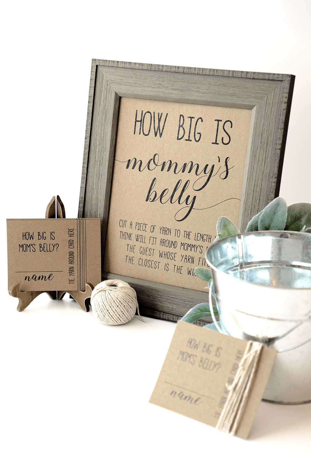 How Big is Mommys Belly Game, Baby Shower Games