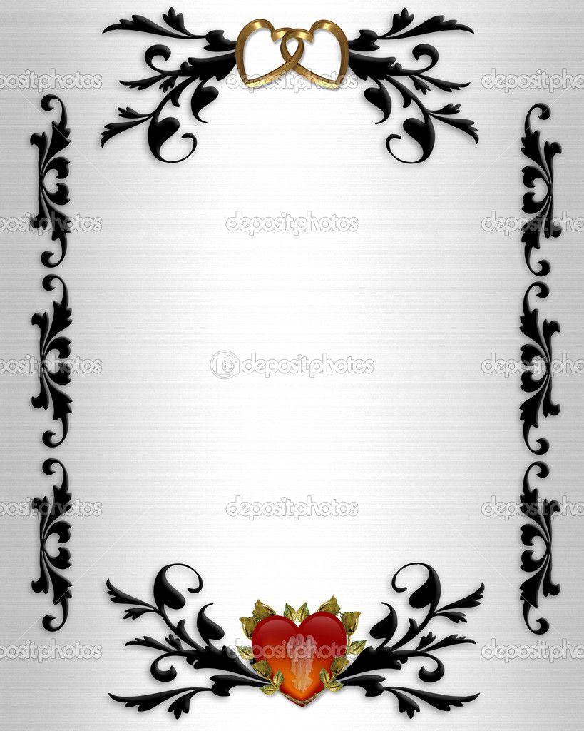 wedding invitation elegant borders