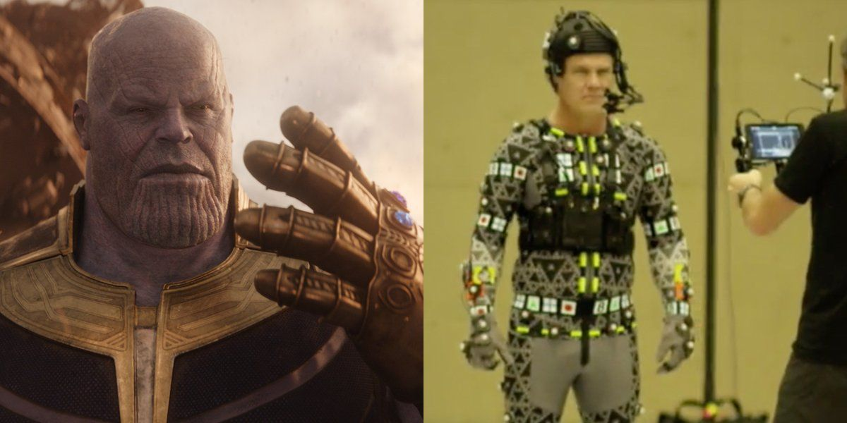 Josh Brolin Wore A Floating Thanos Head While Making Avengers Infinity War Avengers Infinity War Behind The Scenes