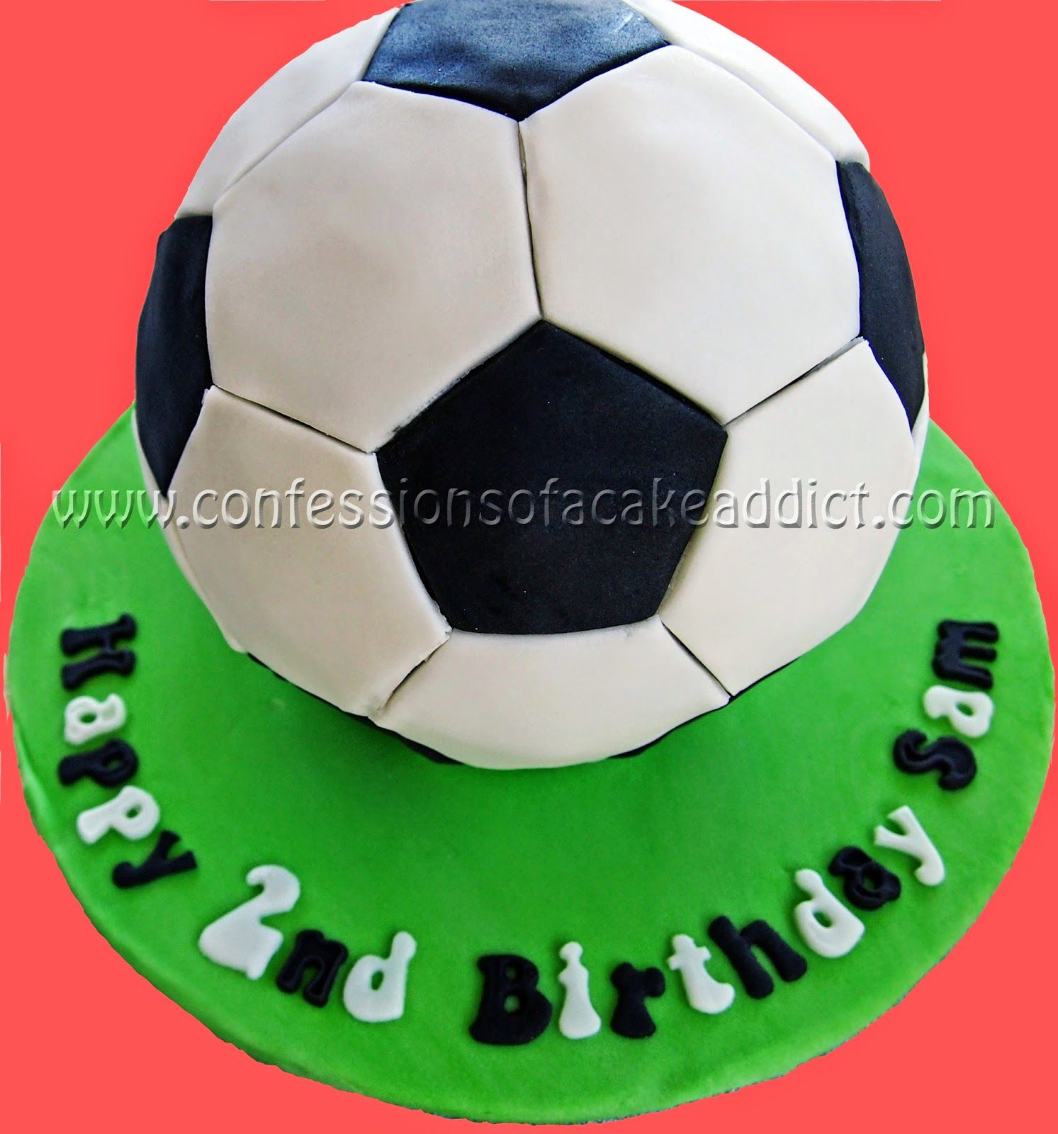 Last Weekend I Got To Try Another Very Fun Cake Design A Soccer Ball Cake For My Best Friend S 2 Year Old S Birt Soccer Ball Cake Soccer Cake Football Cake