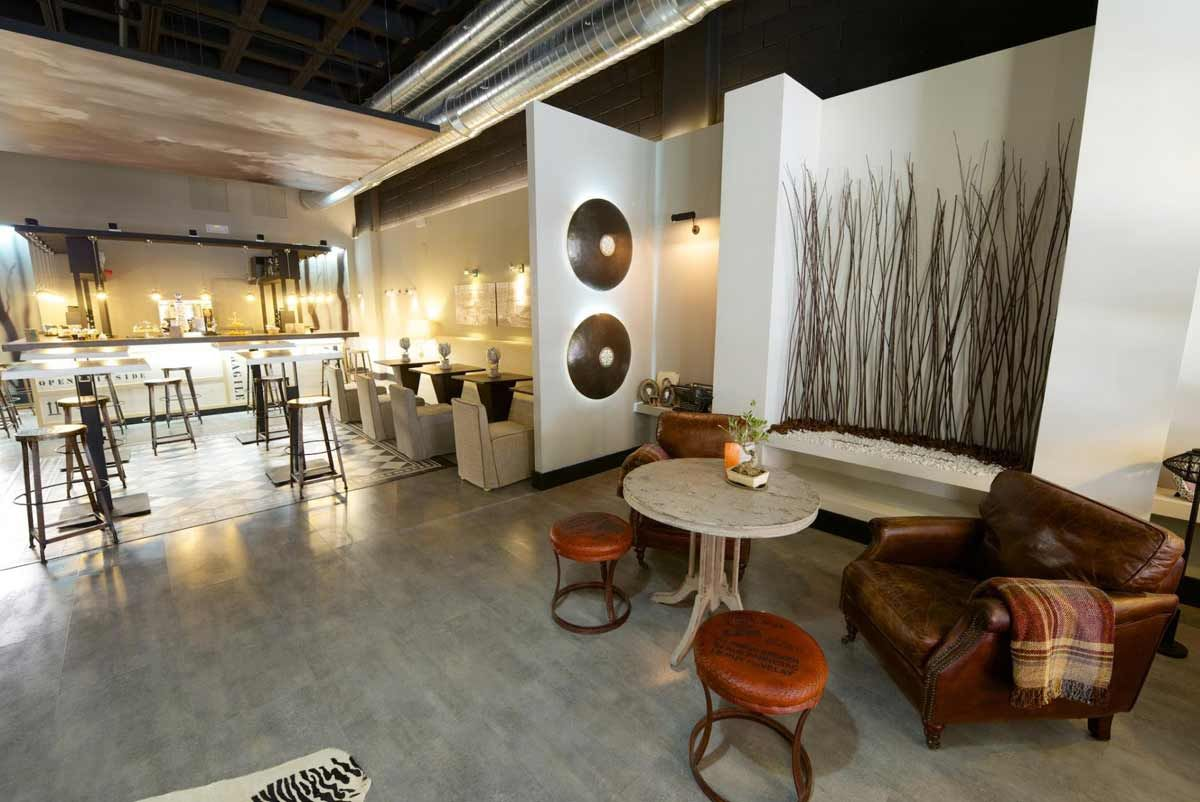 Decoracion industrial minimalista cafeterias buscar con - Ideas decoracion bar ...