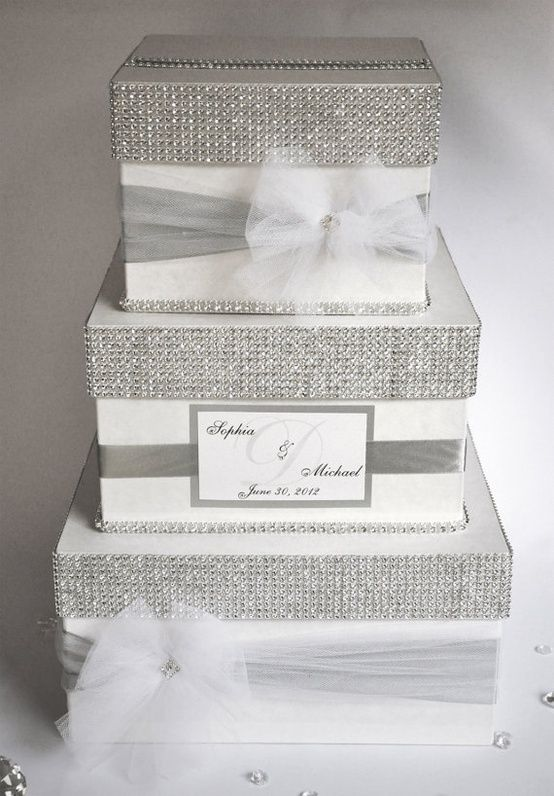 Card box Wedding Box Wedding money box 3 tier Personalized – Wedding Card Holder Boxes