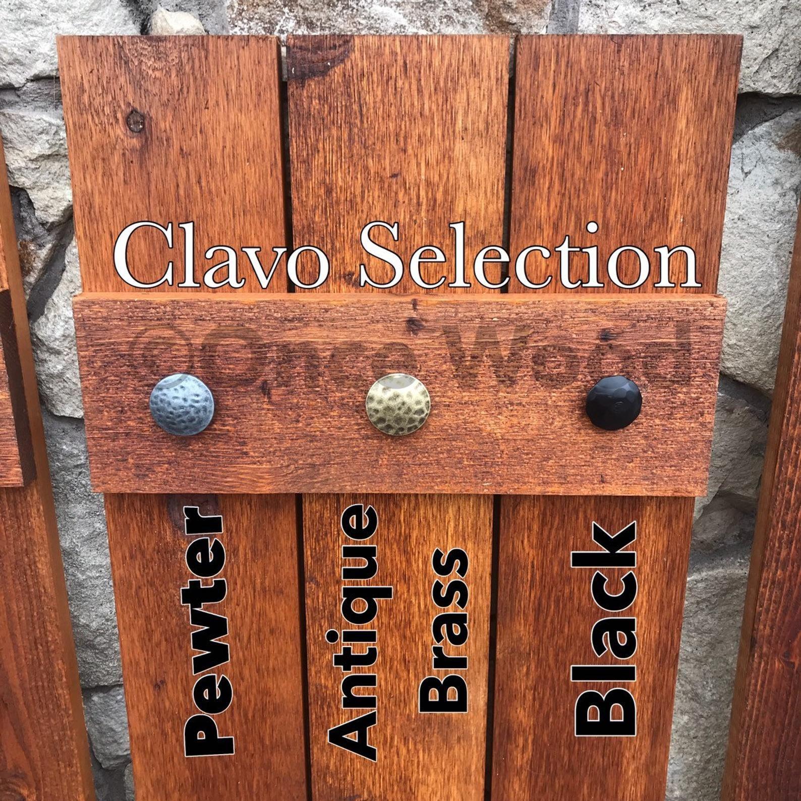 Antique clavos for 3 board 2 batten shutters cedar shutter
