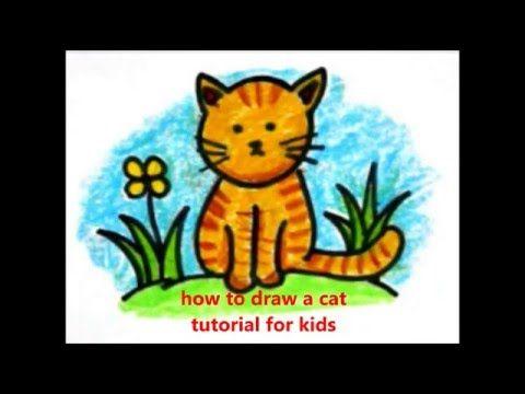 Cara Menggambar Kucing Cara Menggambar Untuk Anak Anak Pinterest