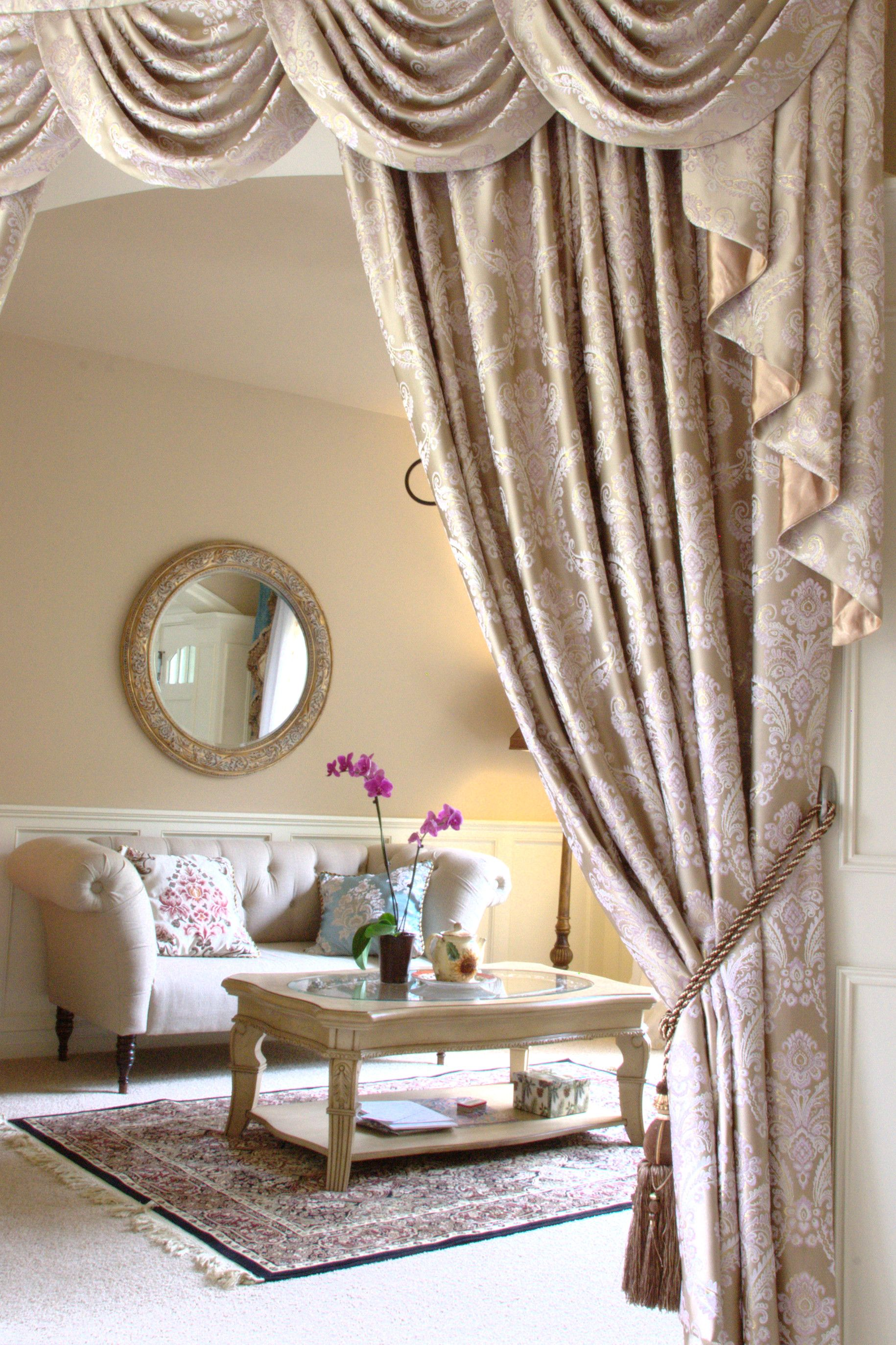 Custom Made Swag Valance Curtains The Fabric Is Gold Ivy